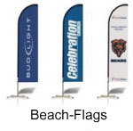 Beach Flags Werbung
